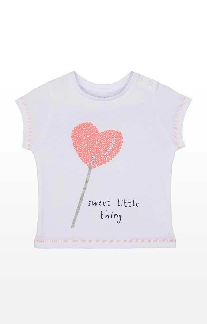 Mothercare | Glitter Heart Lolly Sweet Little Thing T-Shirt