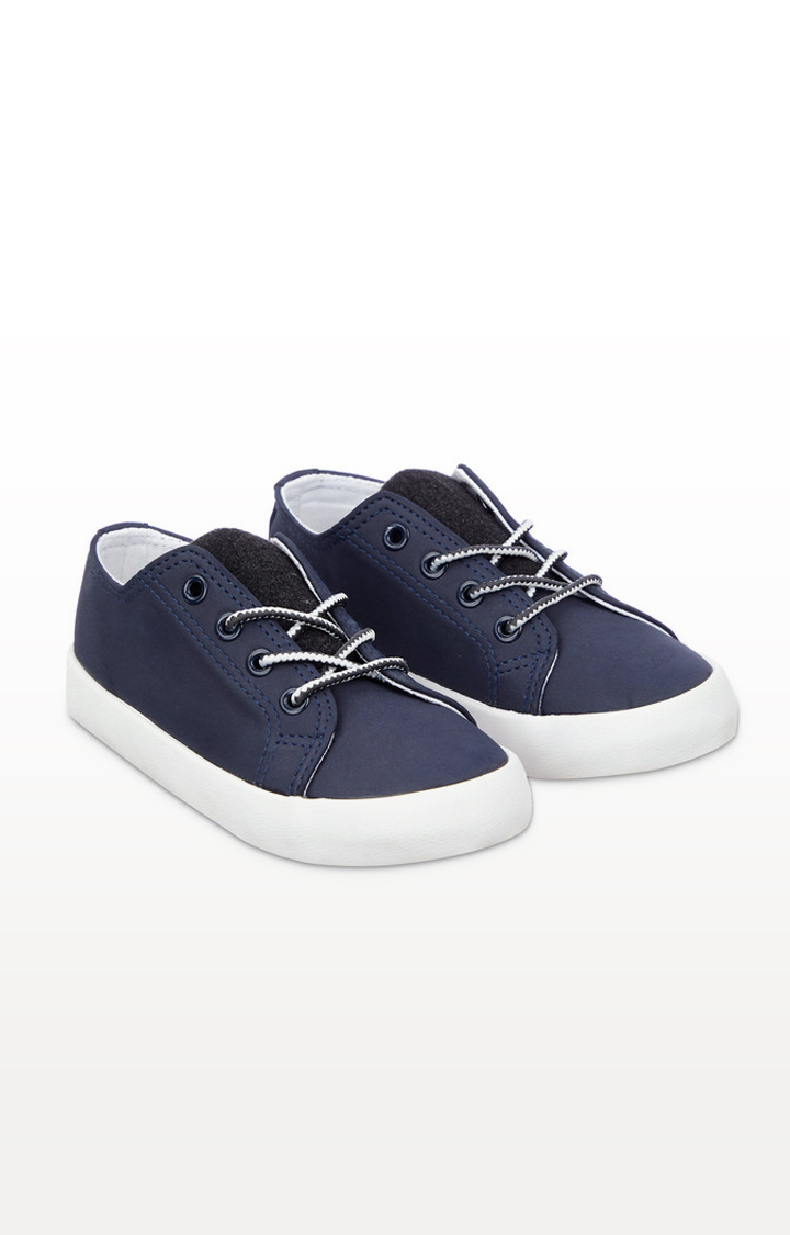Mothercare   Navy Lace-Up Trainers