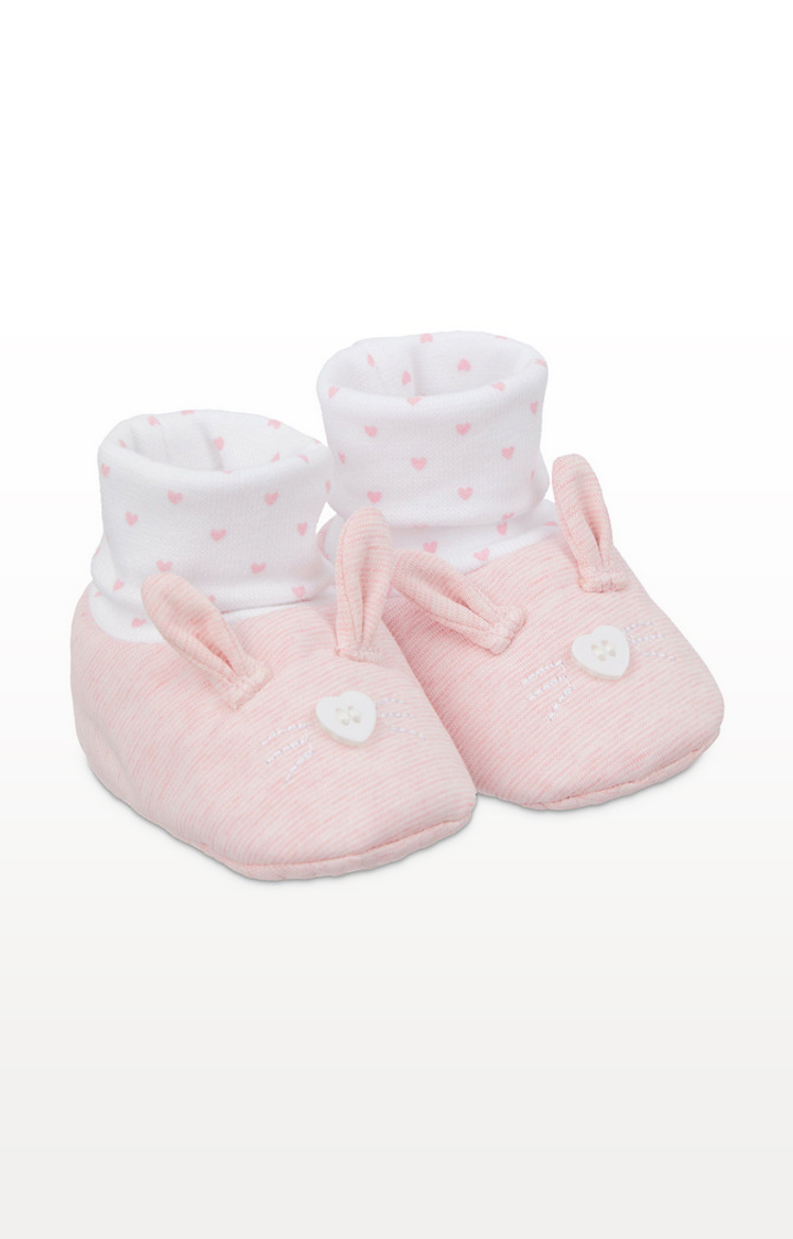 Mothercare | Pink Bunny Sock Top Booties