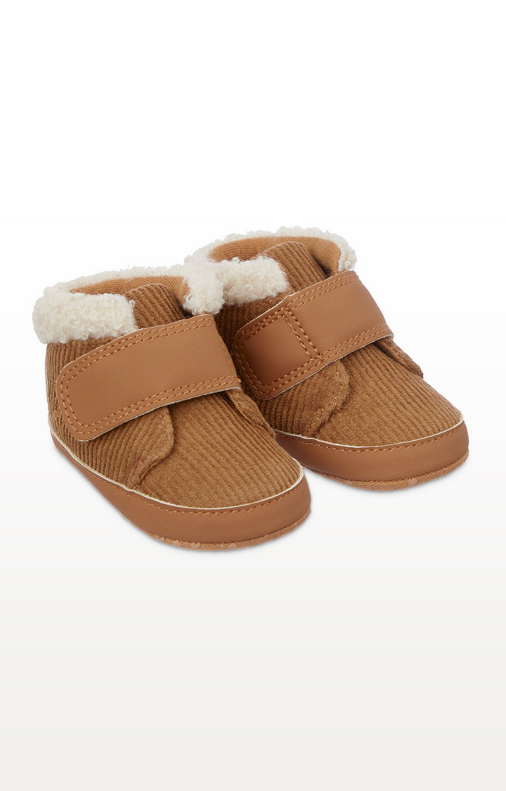 Mothercare | Tan Cord Pram Shoes