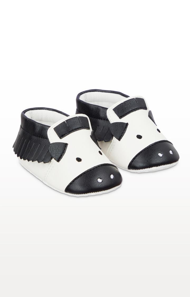 Mothercare | Zebra Moccasin Pram Shoes