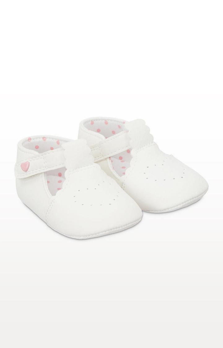 Mothercare | White T-Bar Pram Shoes