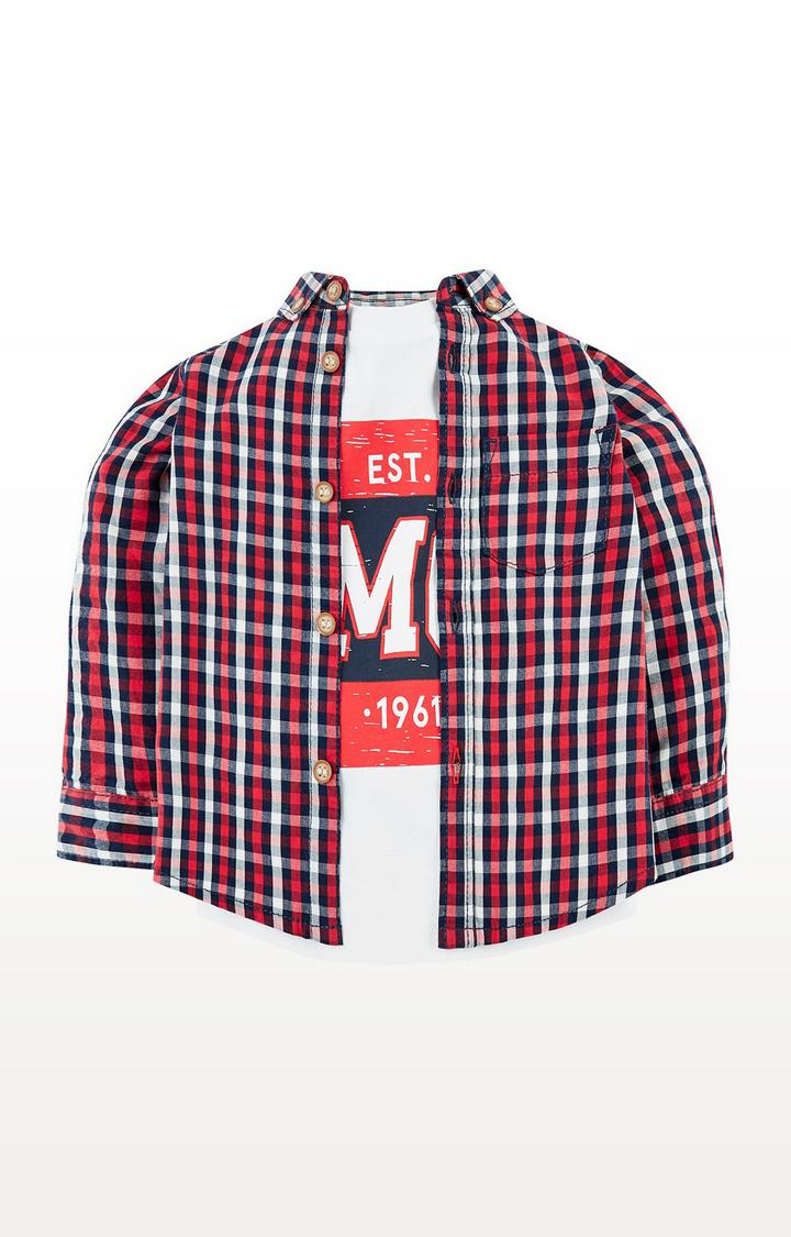 Mothercare | Check Shirt And T-Shirt Set