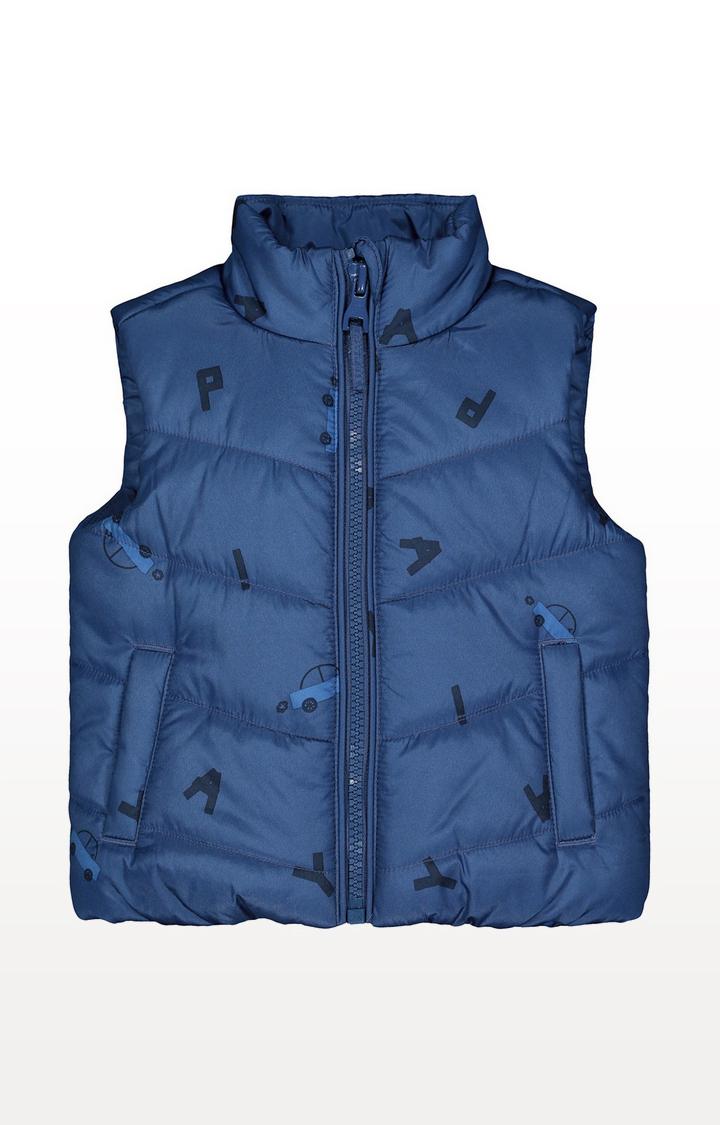 Mothercare   Blue Car Fleece-Lined Gilet