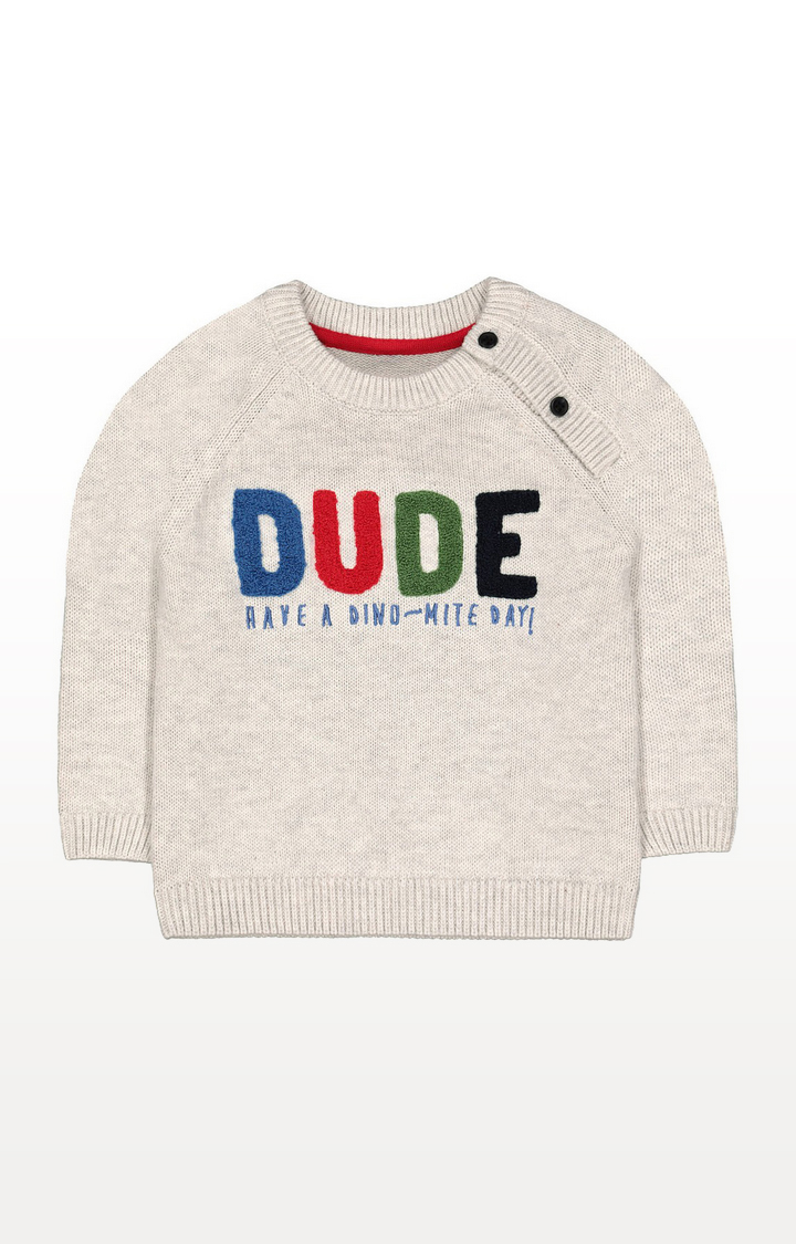 Mothercare | Grey Dude Knitted Jumper