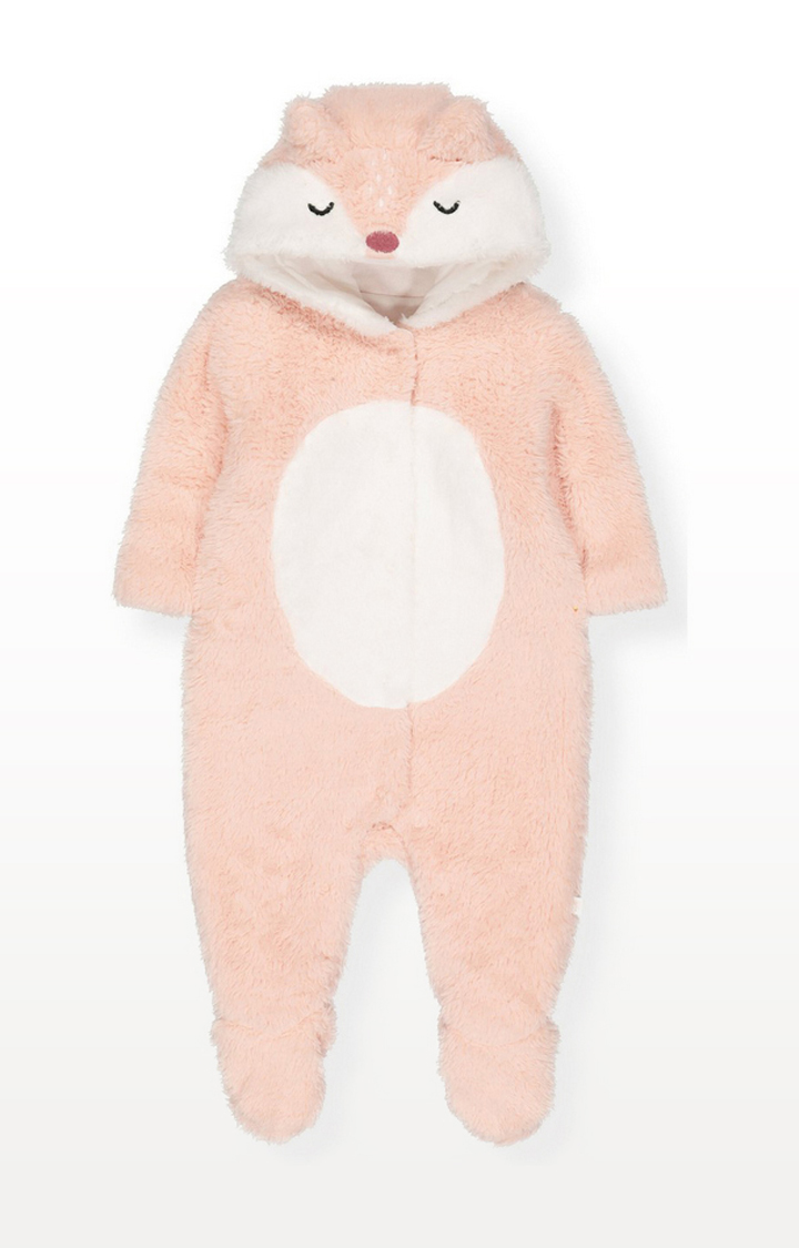 Mothercare | Pink Woodland Fox Fluffy All In One