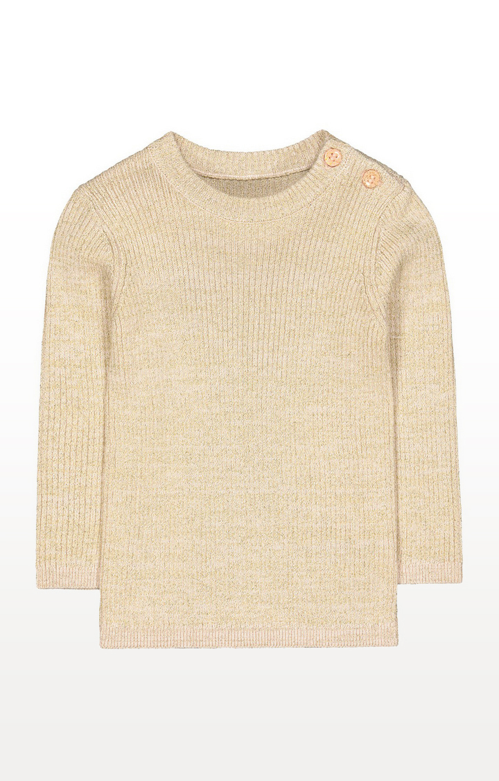 Mothercare | Gold Knit Crew Jumper
