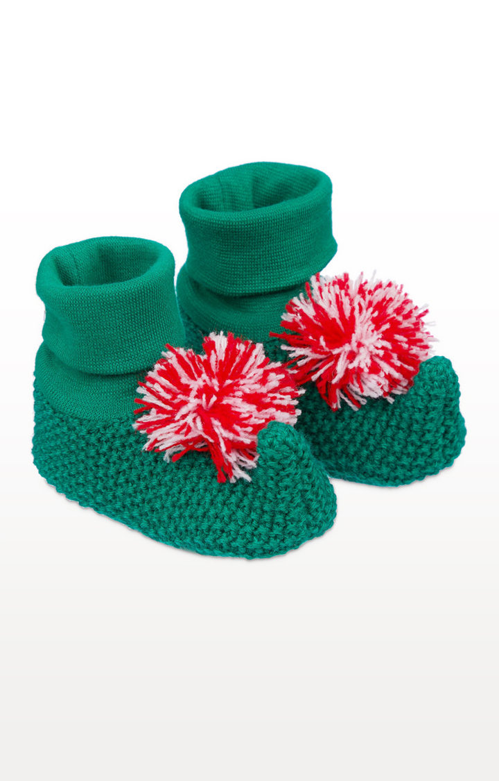 Mothercare | Green Elf Knitted Socktops
