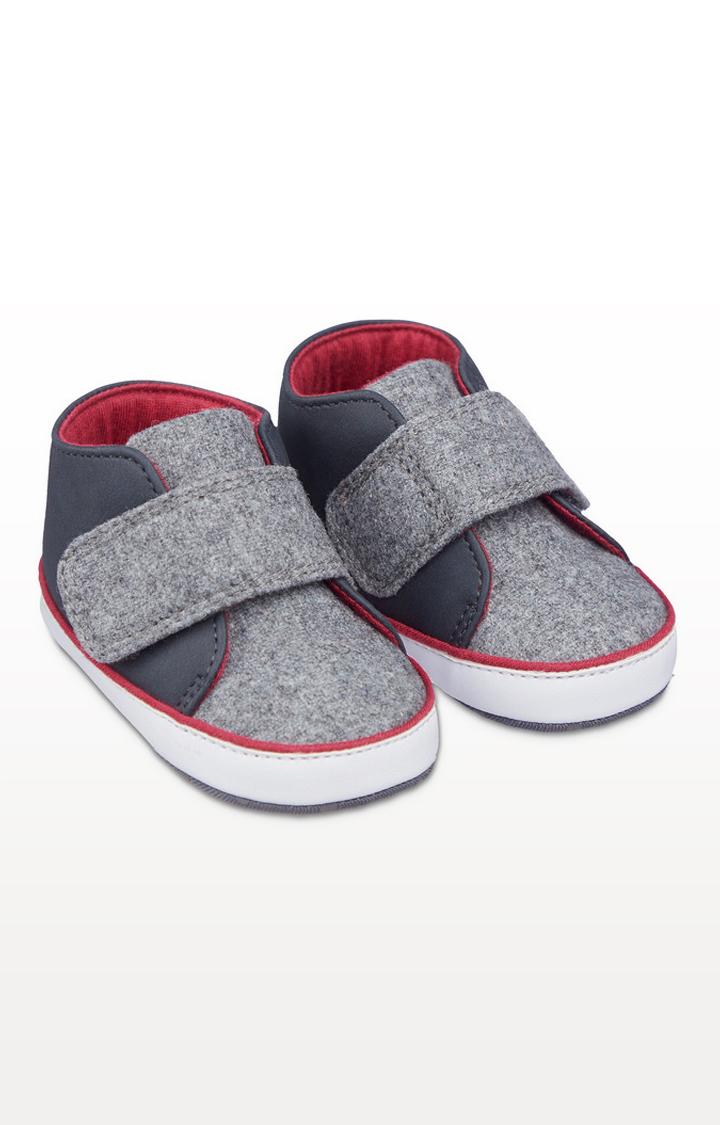Mothercare | Grey Felt Pram Shoes