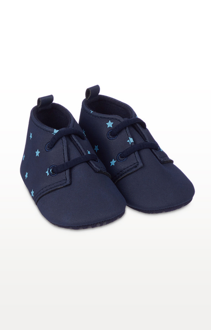 Mothercare | Navy Star Pram Shoes