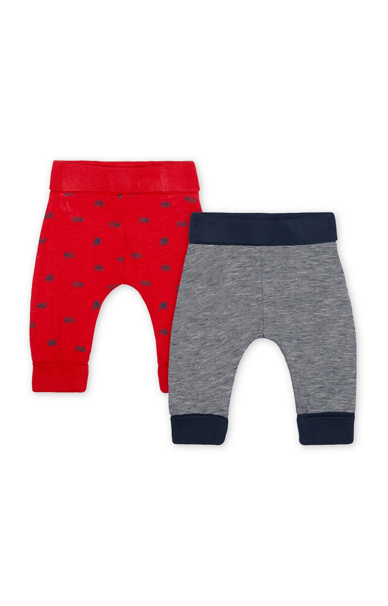 Mothercare | Navy Printed Casual Pants - Pack of 2