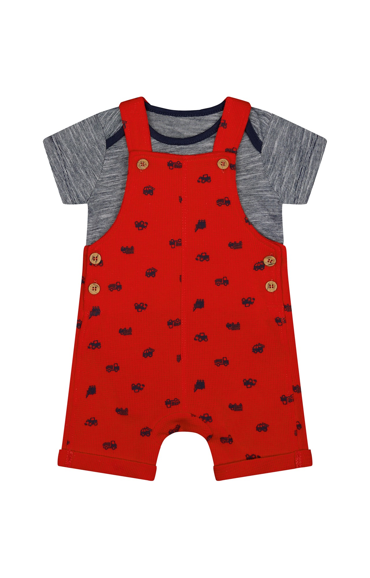 Mothercare | Red Printed Dungaree