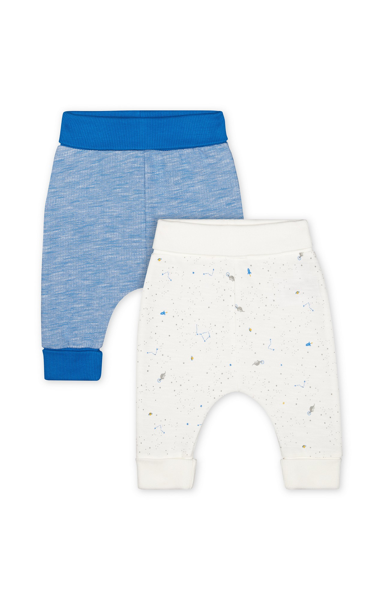 Mothercare | Blue Printed Joggers - Pack of 2