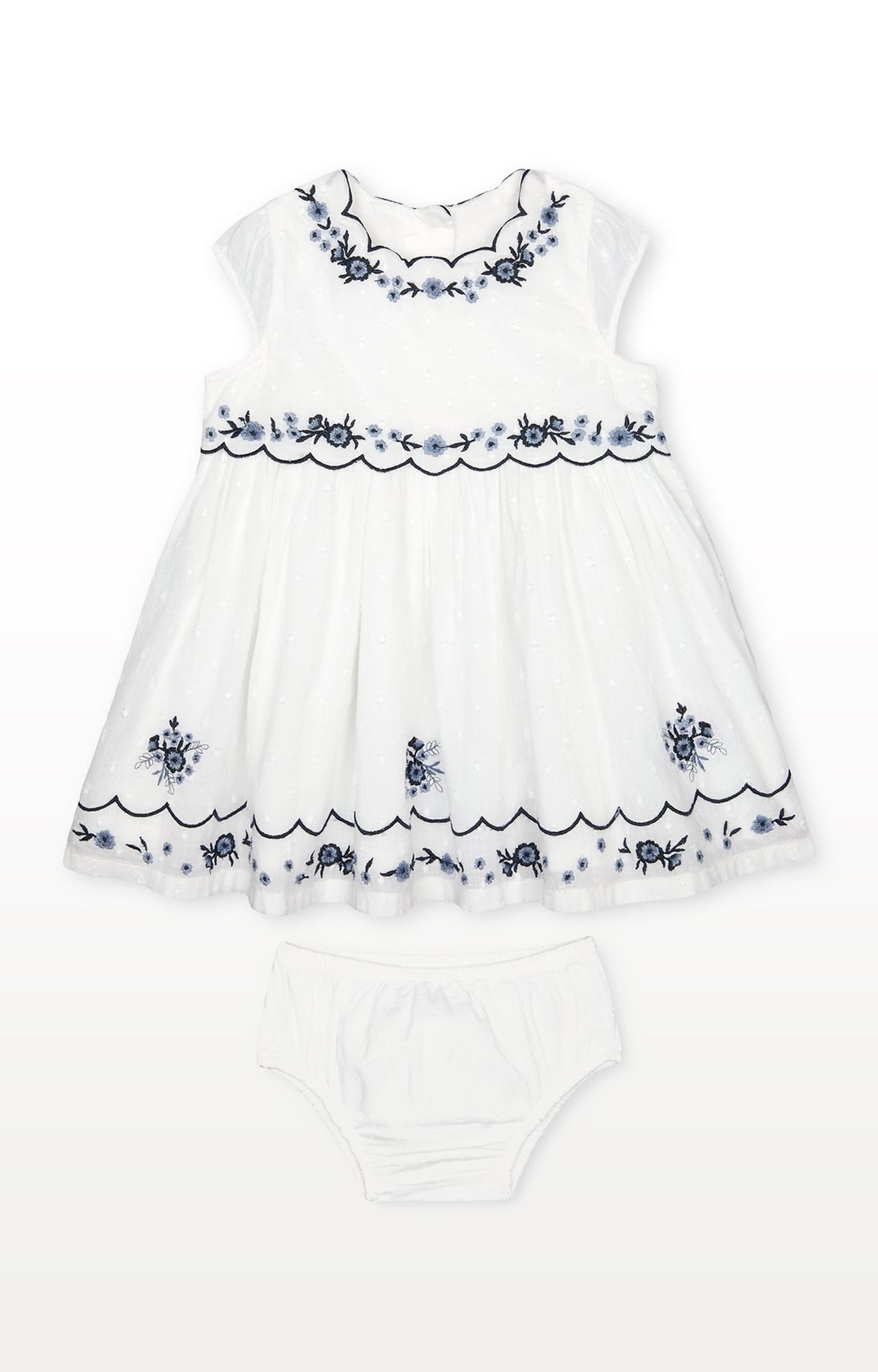 Mothercare | Embroidered Dress and Knickers Set