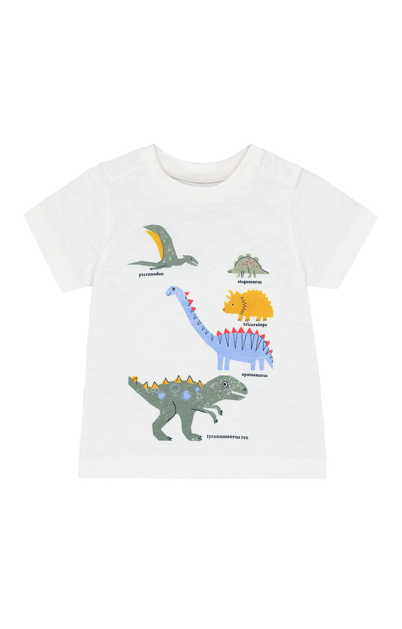 Mothercare   White Printed T-Shirt