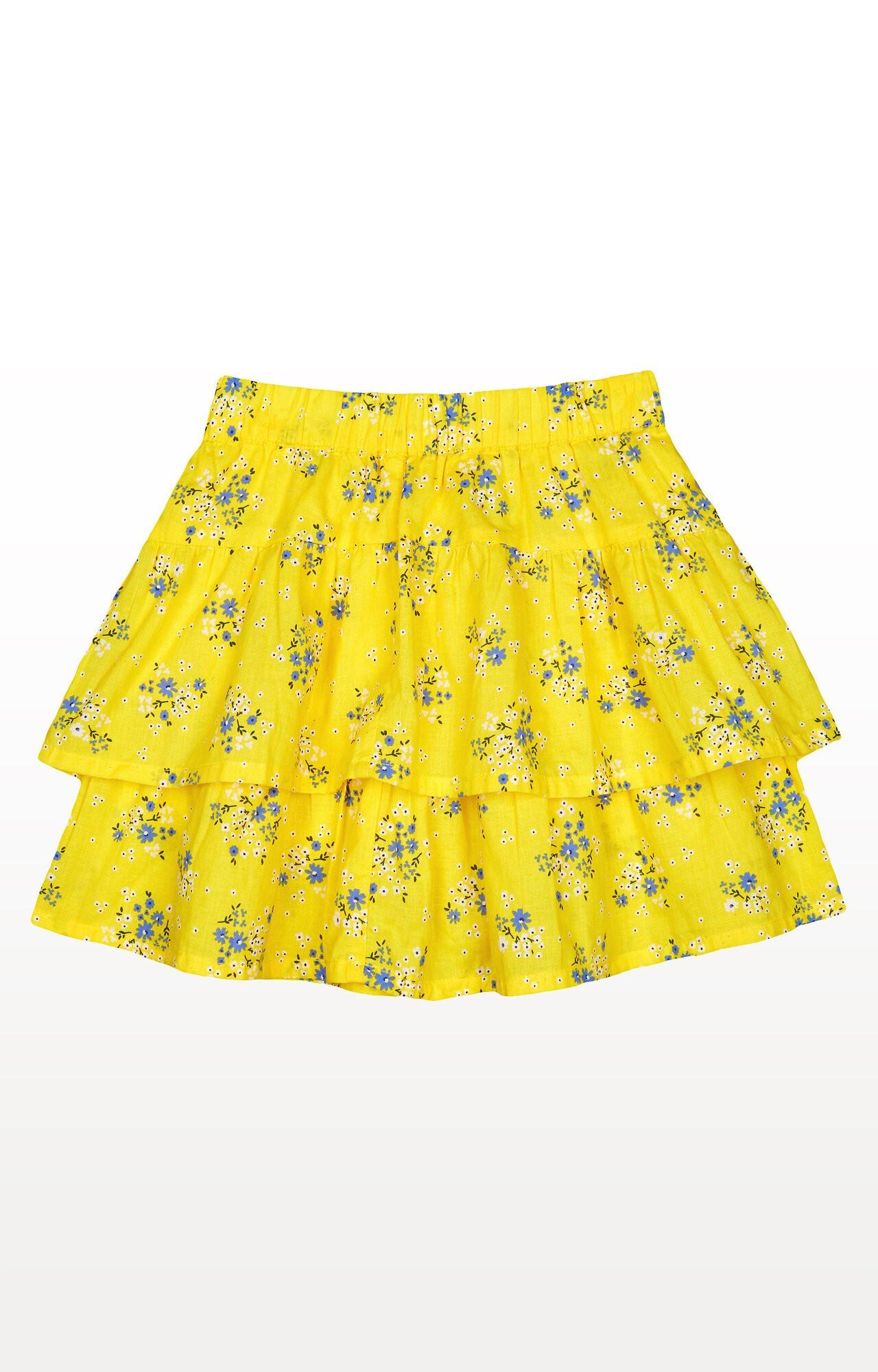 Mothercare | Yellow Ditsy Floral Ra Ra Skirt