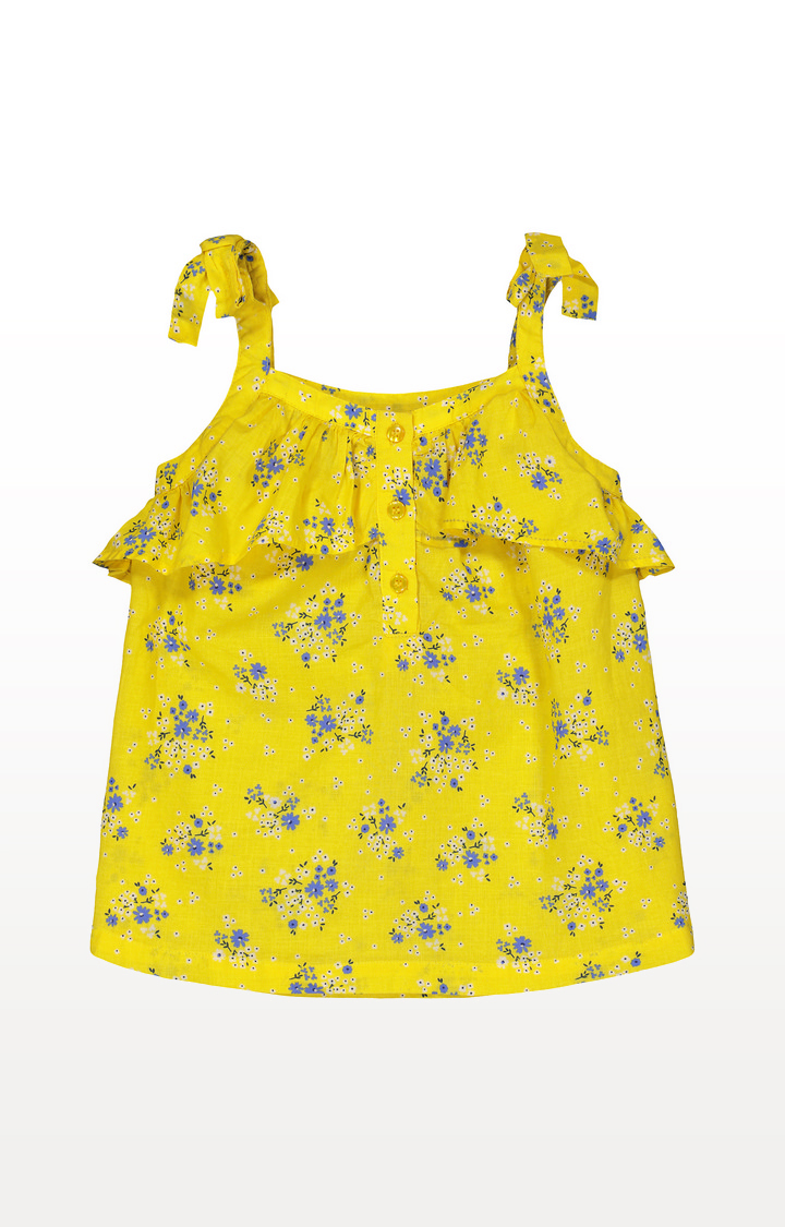 Mothercare | Yellow Ditsy Floral Frill Blouse