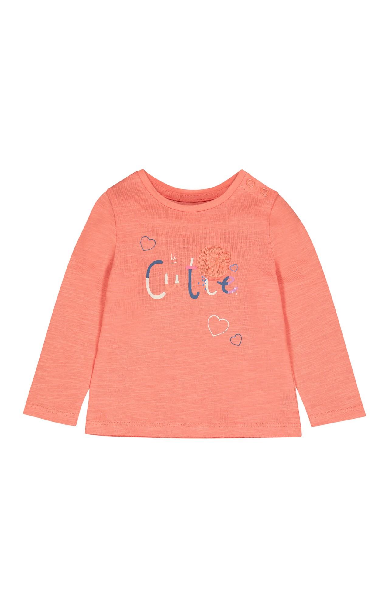 Mothercare | Peach Printed T-Shirt