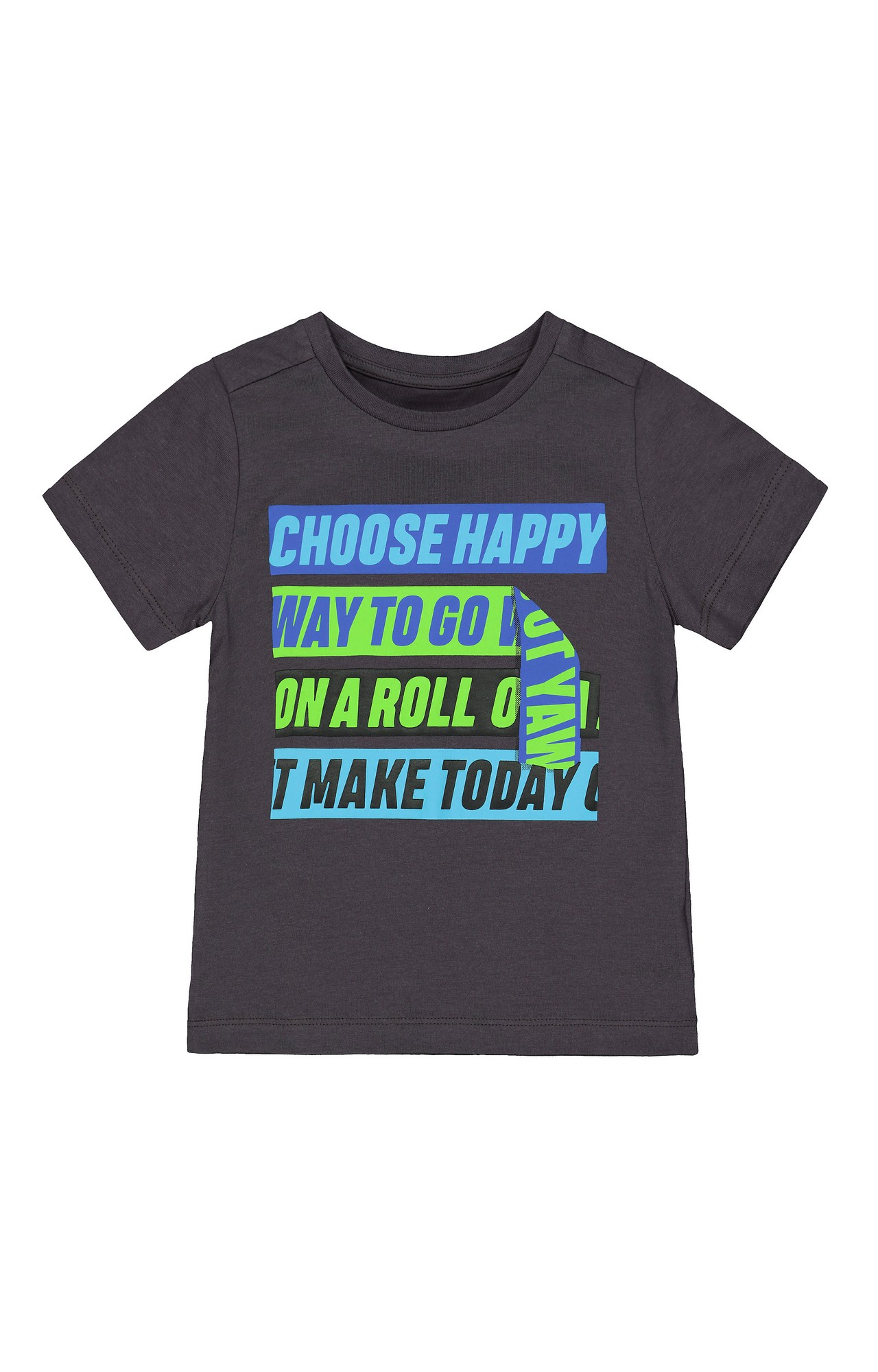 Mothercare | Charcoal Printed T-Shirt
