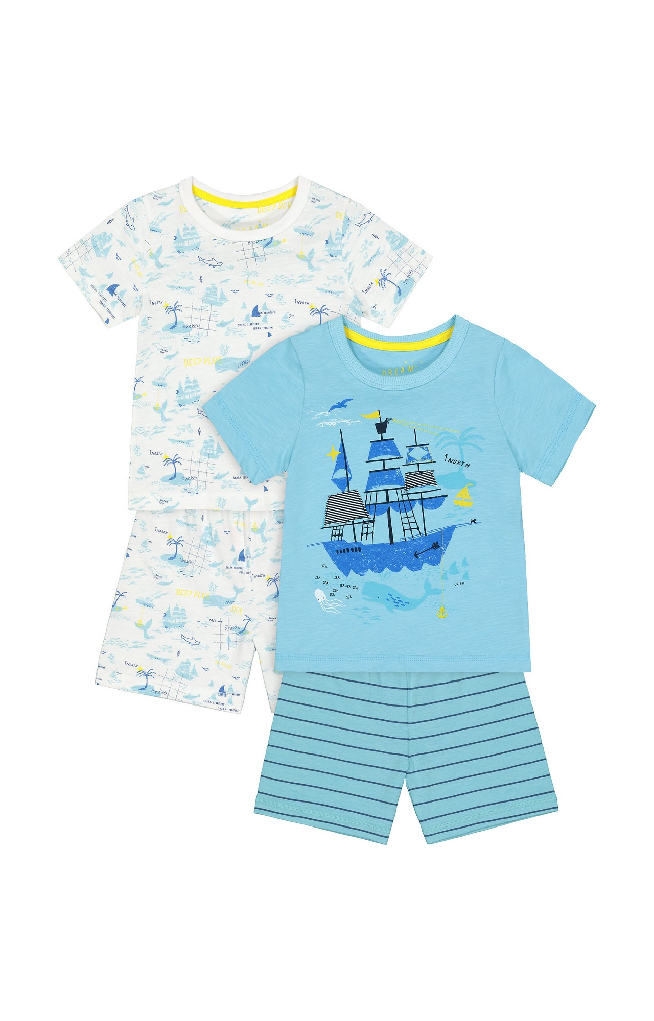 Mothercare | Multicoloured Printed Pyjamas - Pack of 2
