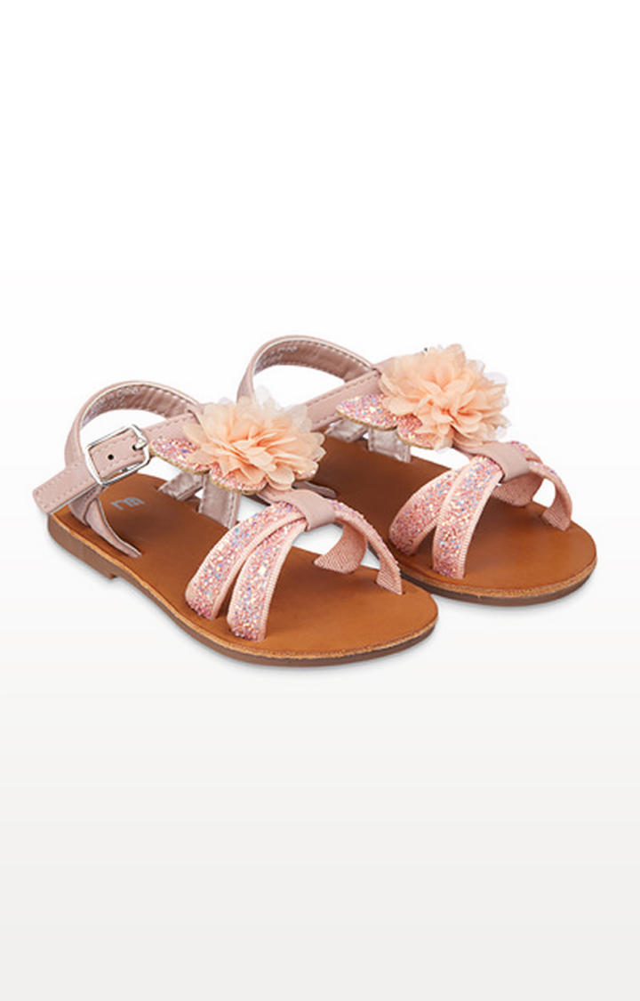 Mothercare | Pink Glitter Flower Corsage Butterfly Sandals