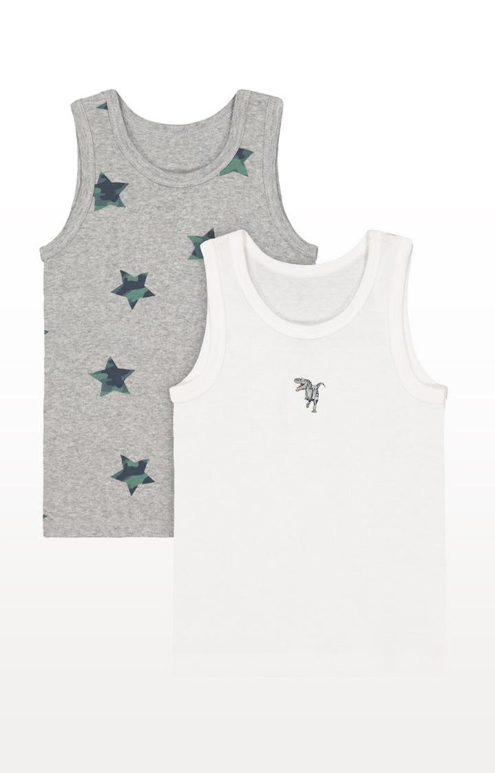 Mothercare   Dinosaur Vests - 2 Pack