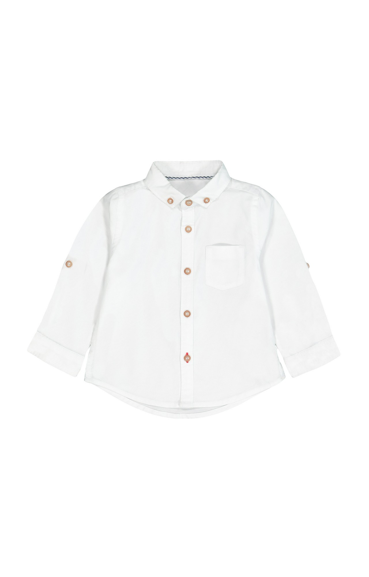 Mothercare   White Solid Shirt