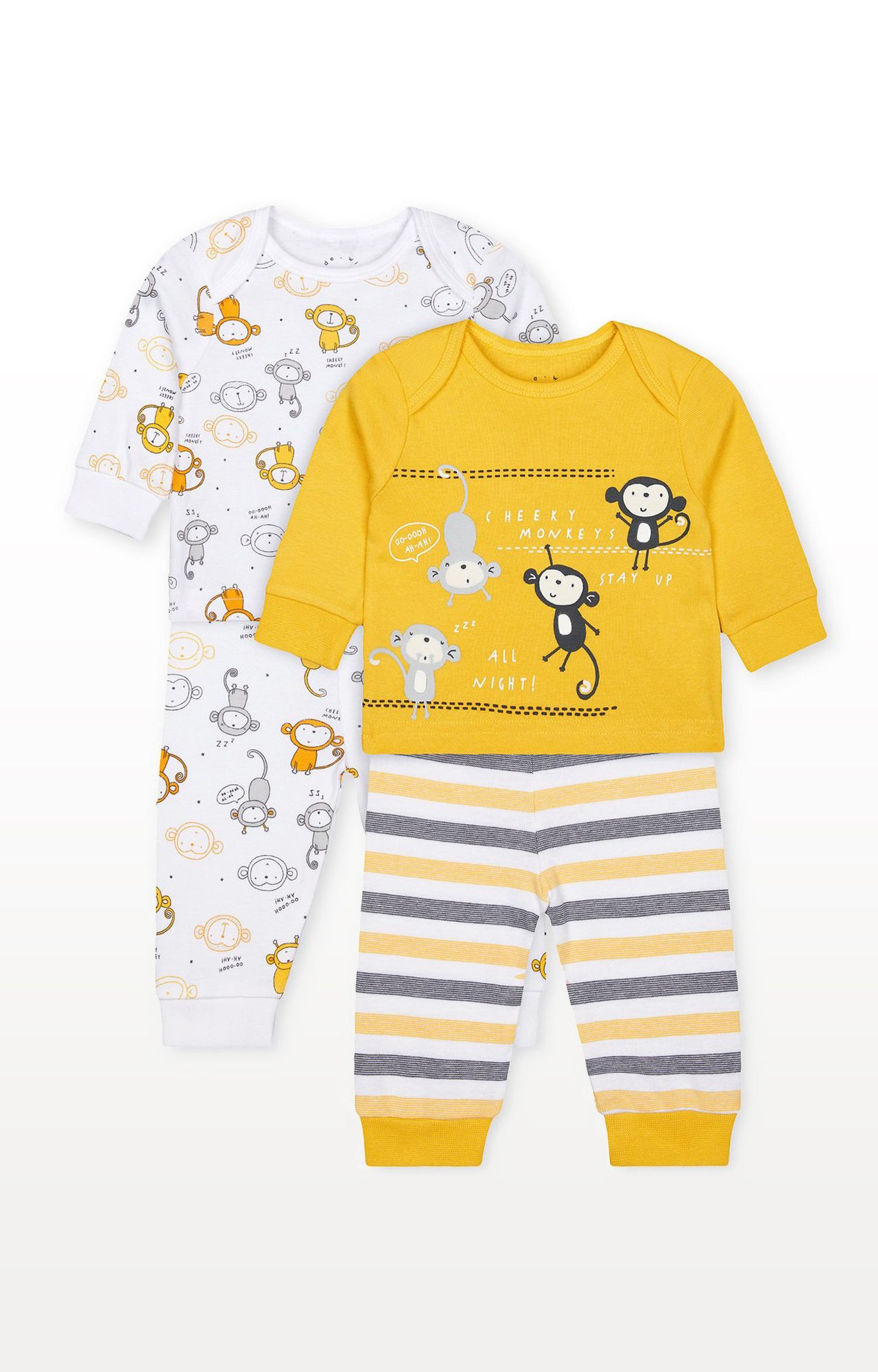 Mothercare | Cheeky Monkeys Pyjamas - Pack of 2