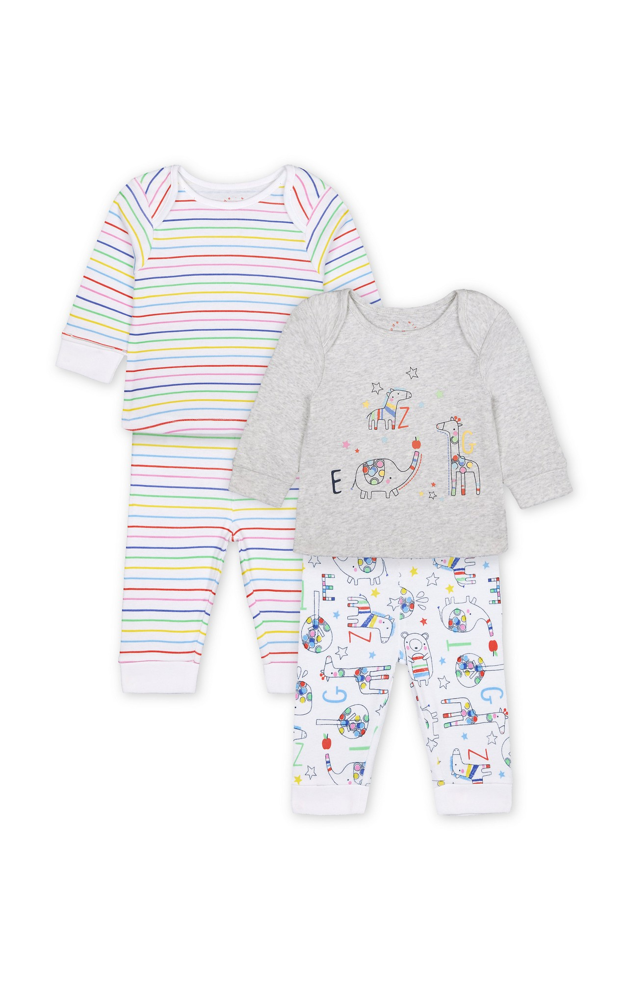 Mothercare   Grey Printed Pyjamas - Pack of 2