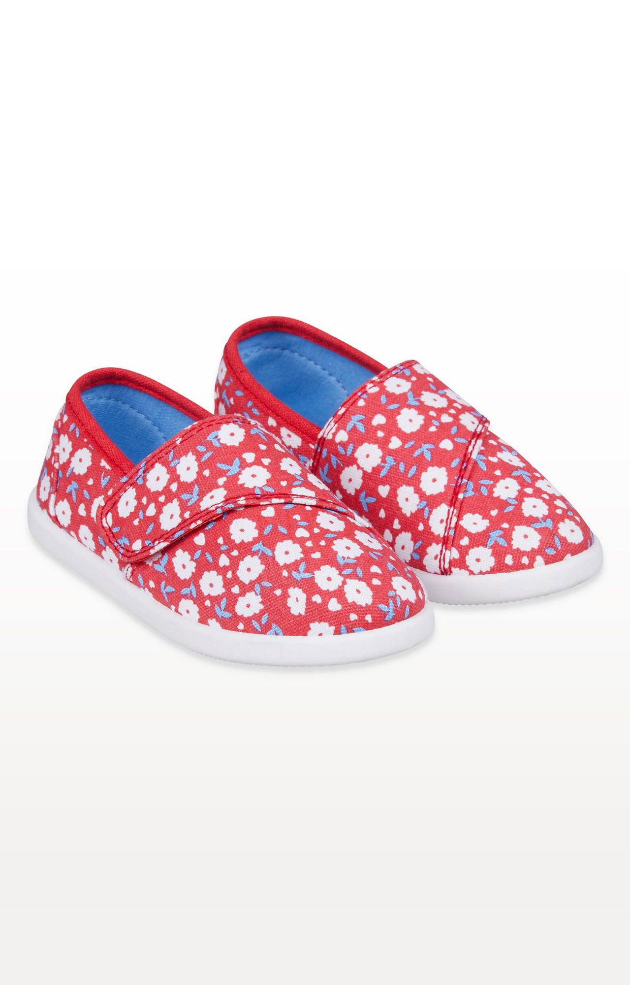 Mothercare   Red Floral Canvas Pumps