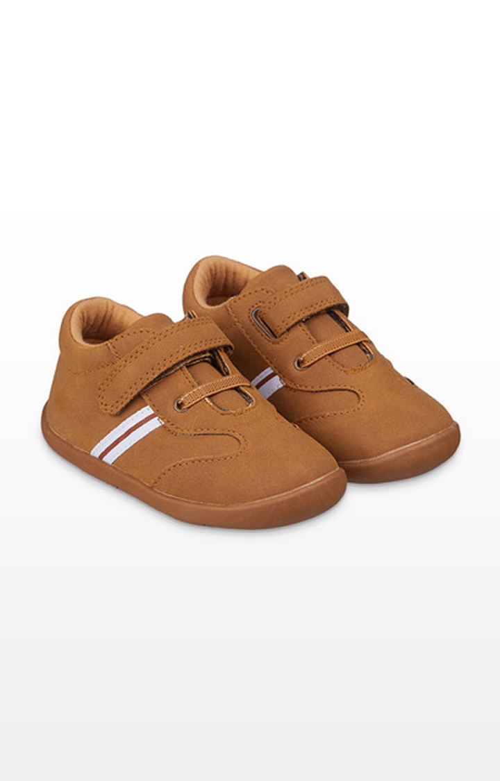 Mothercare | Tan Striped Crawler Shoes