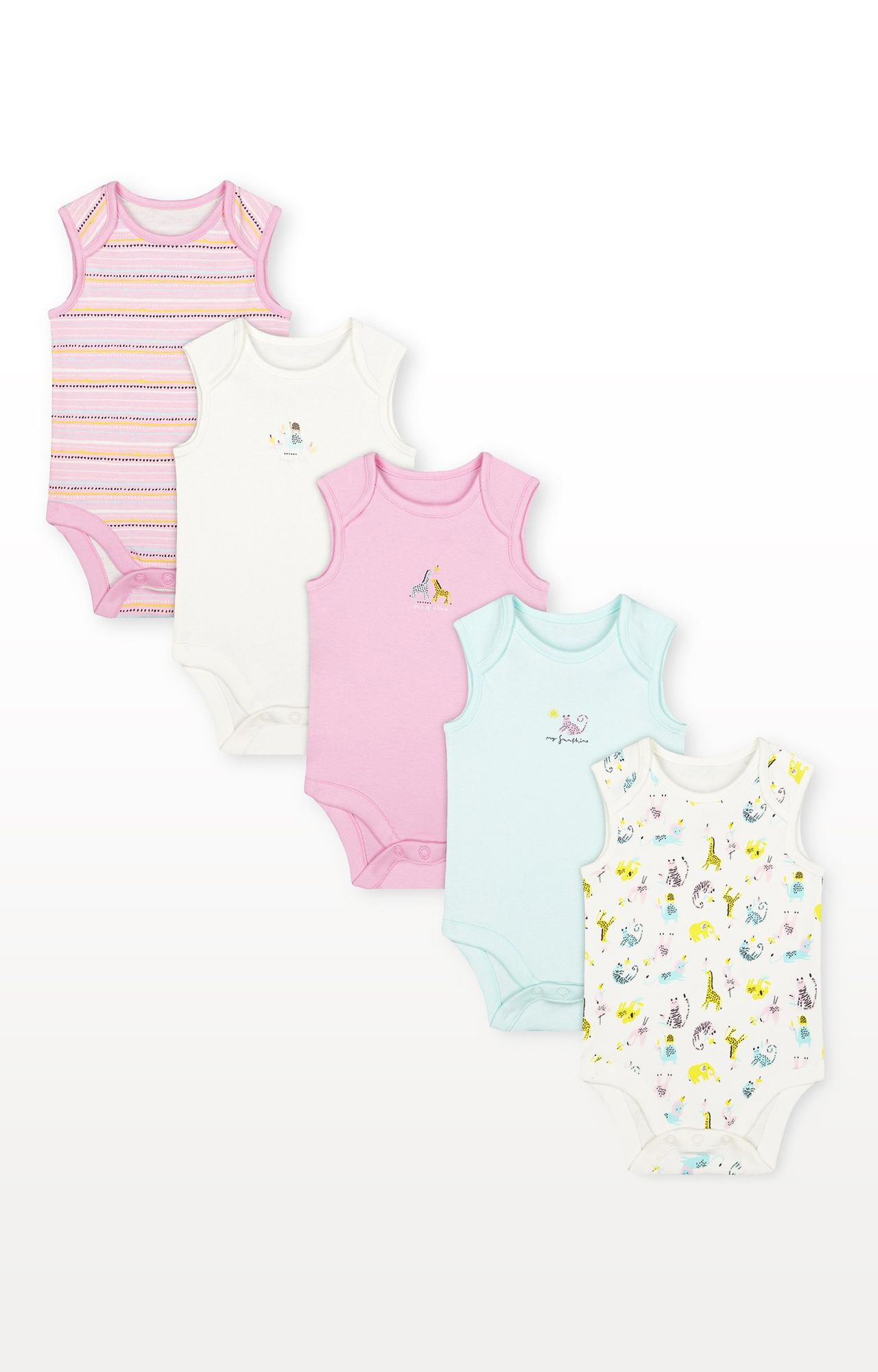Mothercare | Summer Bodysuits - Pack of 5