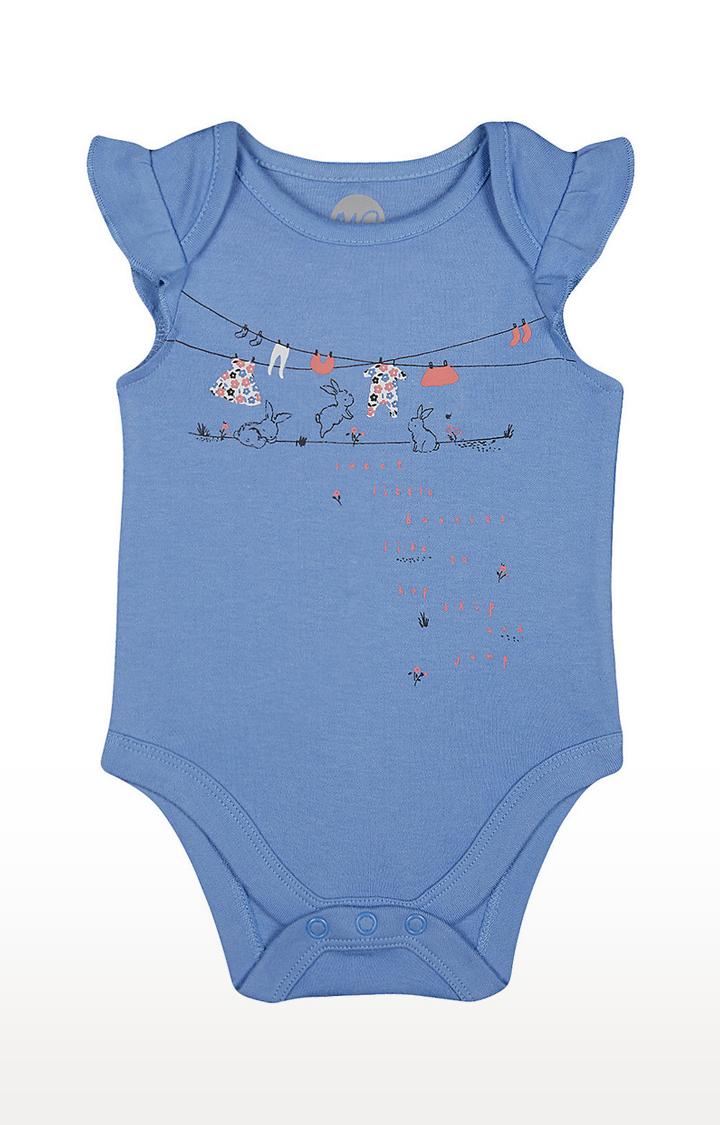 Mothercare | Girls Sleeveless Bodysuit - Printed Blue
