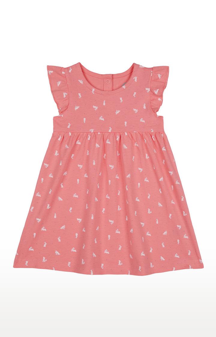 Mothercare   Girls Sleeveless Casual Dress - Printed Pink