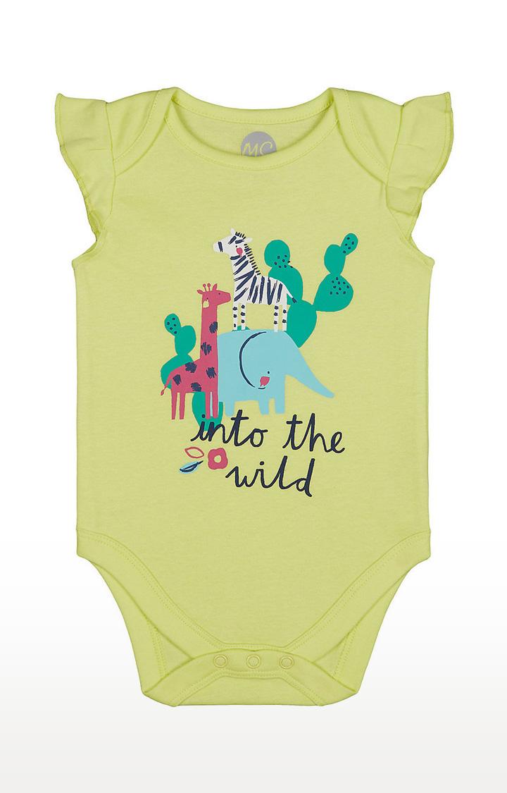 Mothercare | Girls Half Sleeve Bodysuit - Printed Yellow