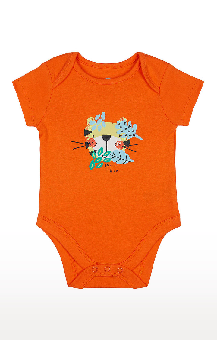 Mothercare | Boys Half Sleeve Bodysuit - Printed Orange