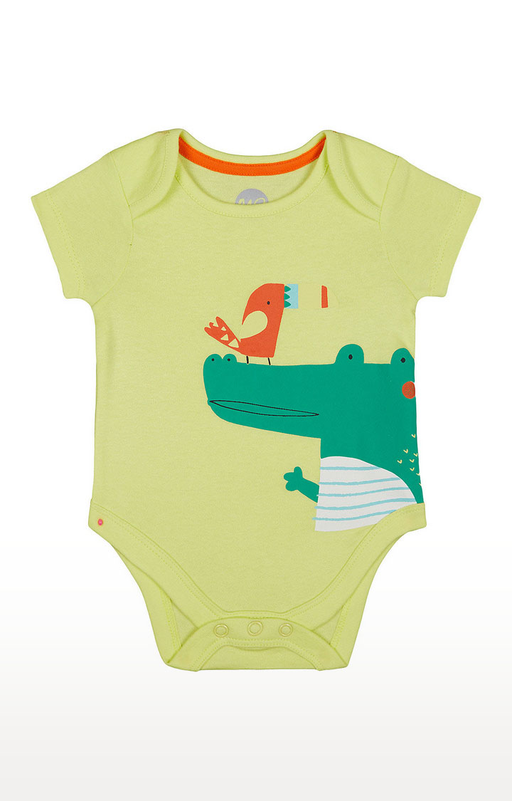 Mothercare | Boys Half Sleeve Bodysuit - Printed Yellow