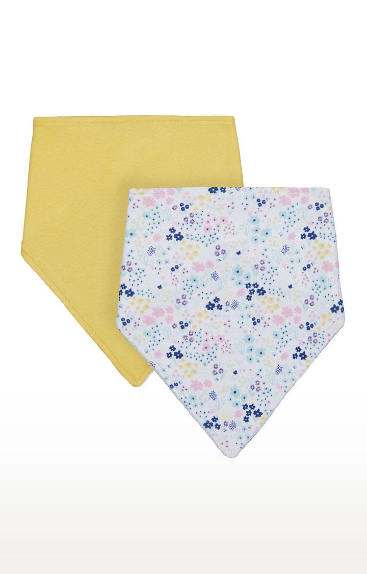 Mothercare   Girls Bibs - Yellow and White
