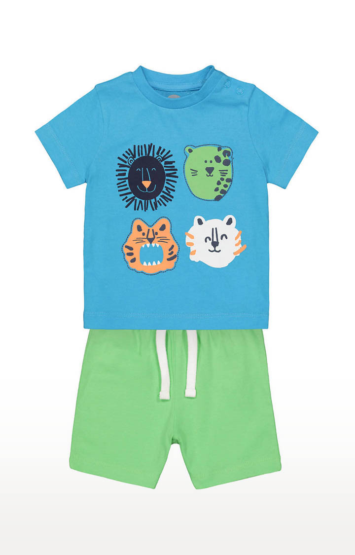 Mothercare | Boys Blue Tee and Green Shorts