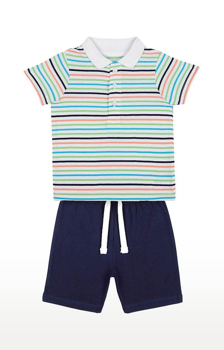 Mothercare | Boys Stripe Polo and Navy Shorts