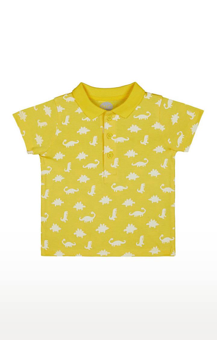 Mothercare | Boys Half Sleeve Polo - Printed Yellow