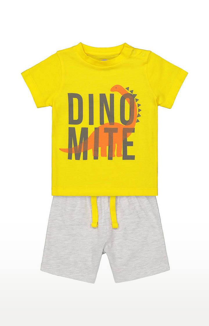 Mothercare | Boys Yellow Tee and Grey Shorts