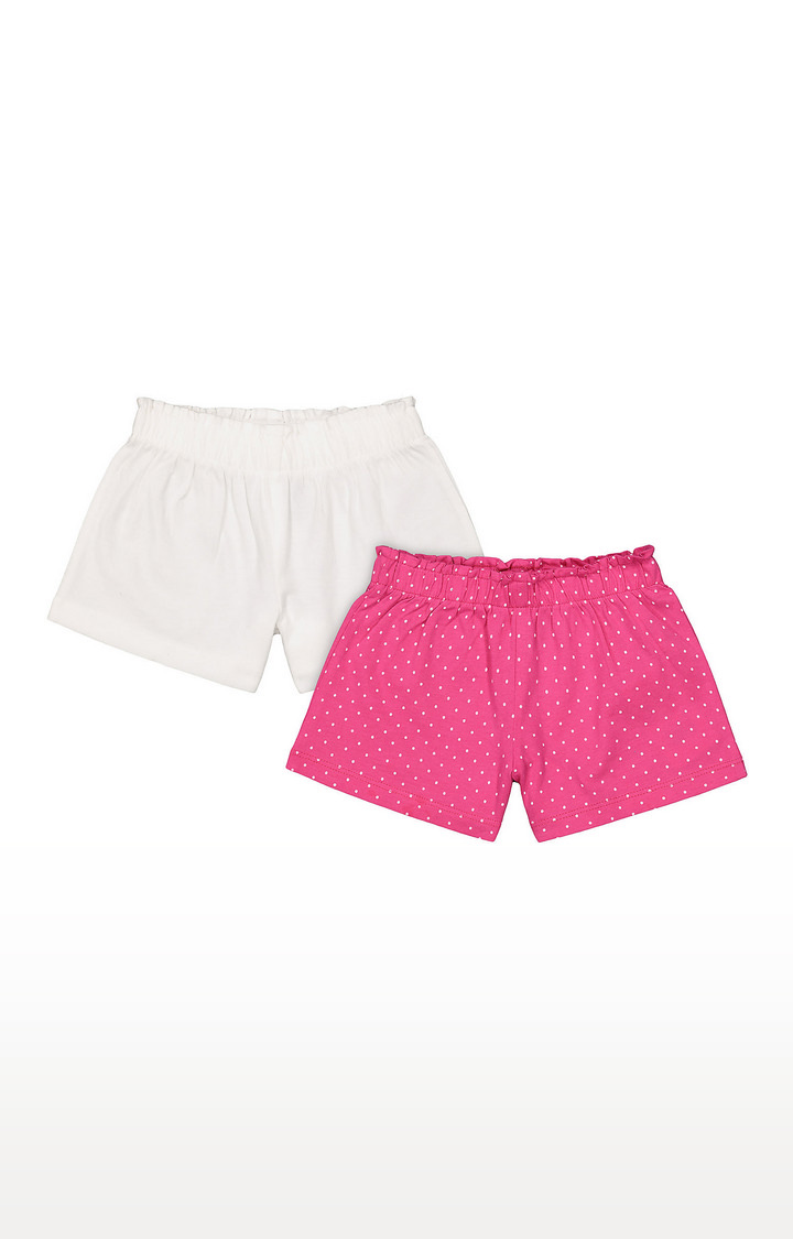 Mothercare | Girls Shorts - White and Pink