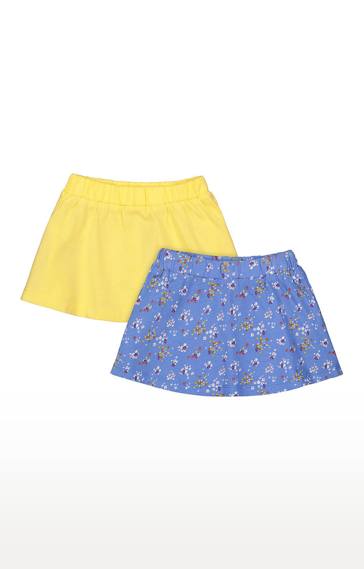 Mothercare | Girls Skirt - Yellow and Blue