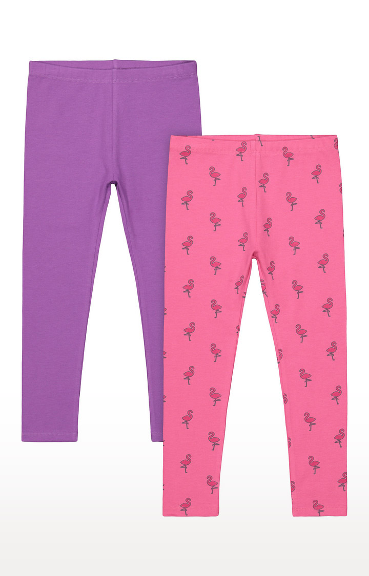 Mothercare | Girls Leggings - Purple and Pink
