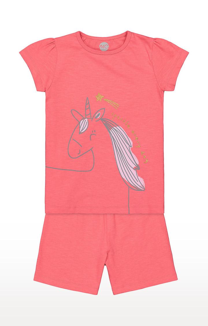 Mothercare   Girls Shortie Set - Pink