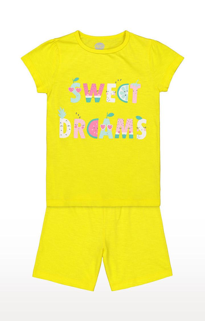 Mothercare | Girls Shortie Set - Yellow