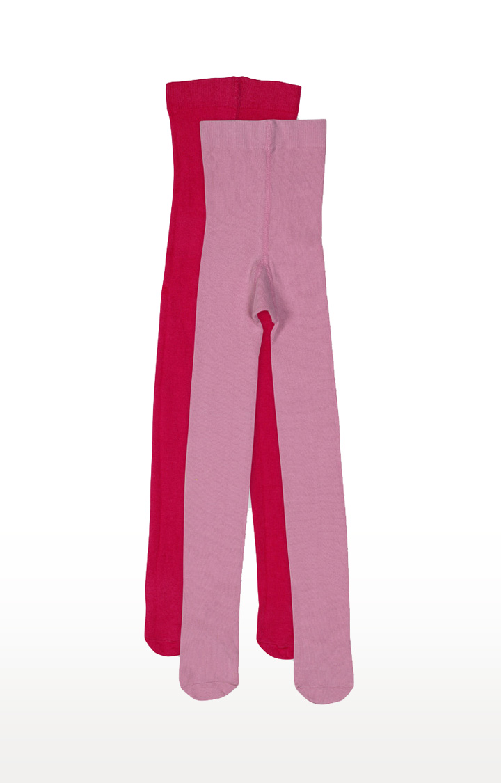 Mothercare | Red and Pink Solid Tights - Pack of 2