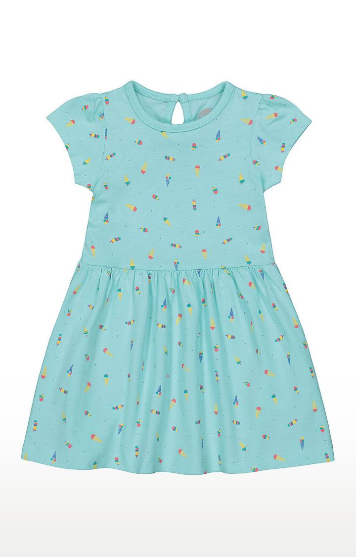 Mothercare | Girls Half Sleeve Casual Dress - Blue