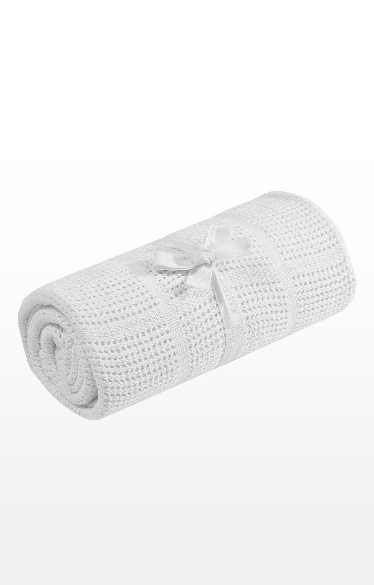Mothercare   White Cot Or Cot Bed Cellular Cotton Blanket